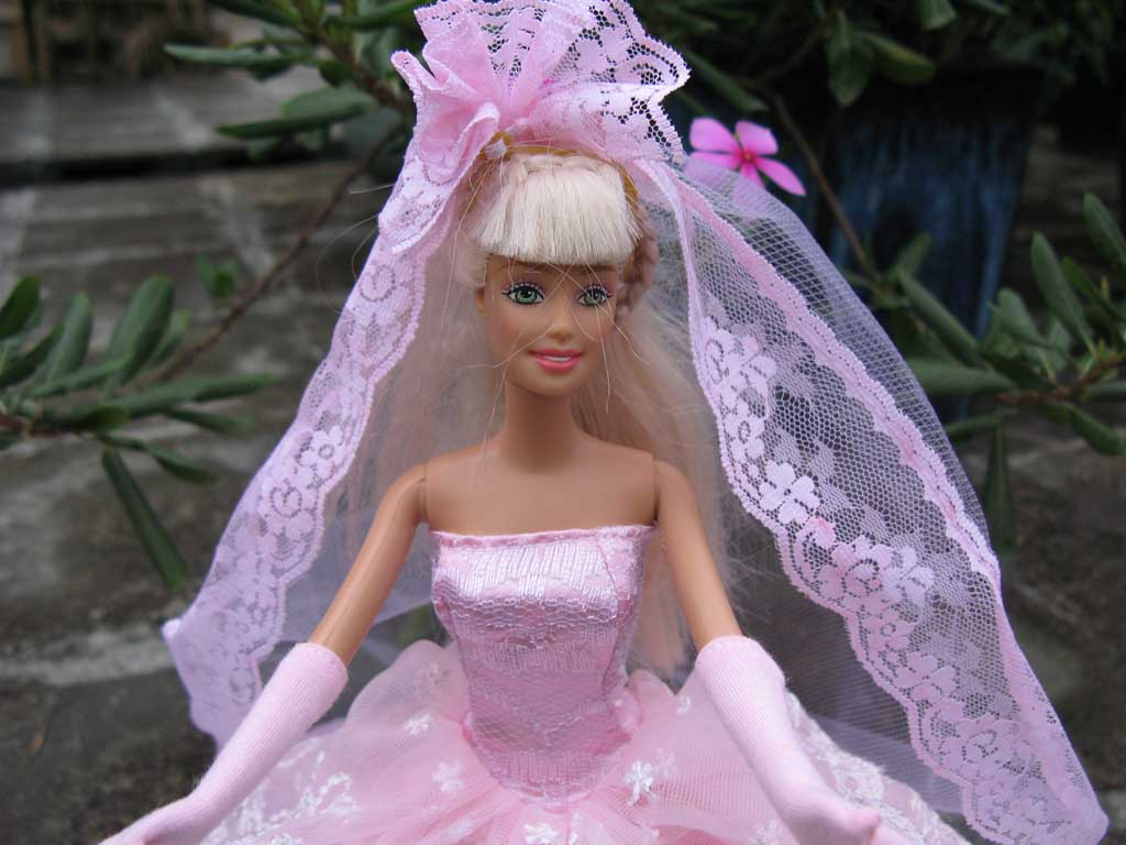 Handmade Wedding Clothes for barbie Dresses Gown for