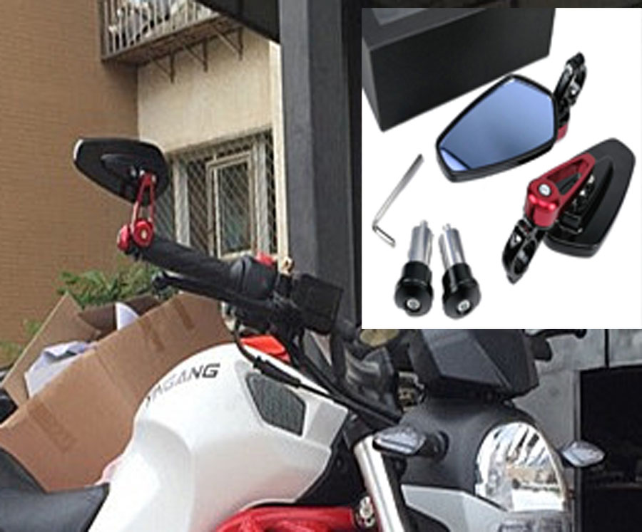 Motorrad 7 8 alu r ckansicht seitenspiegel lenkerende f r for Spiegel unten motorrad